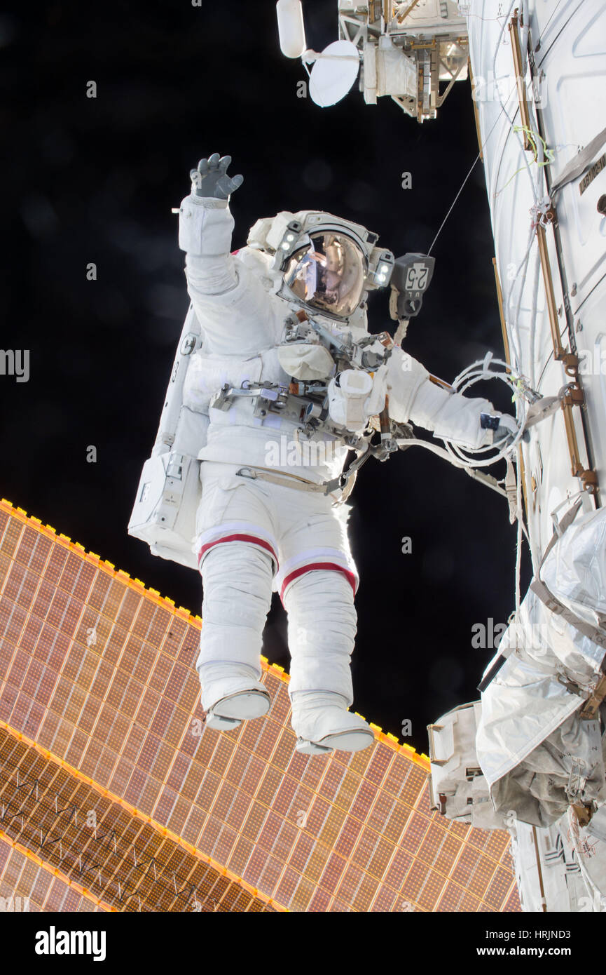 Scott Kelly, Expedition 46 Spacewalk - Stock Image