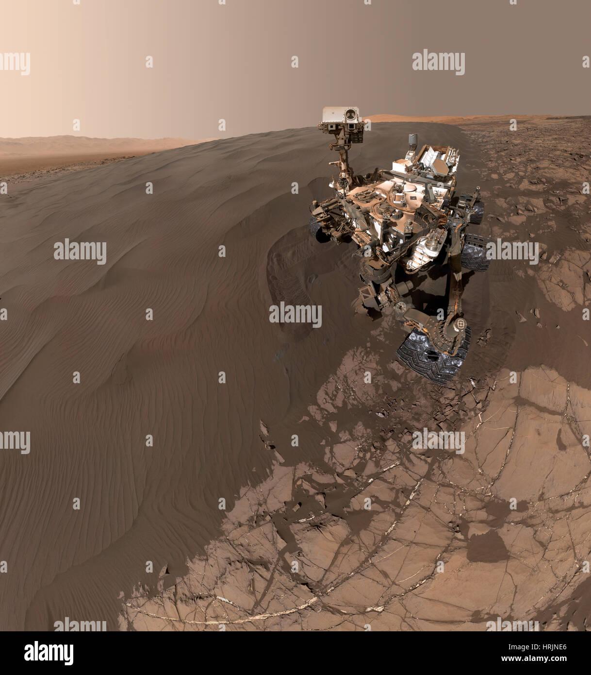 Curiosity Rover Self-Portrait - Stock Image