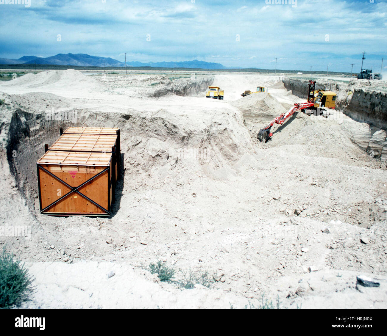 RWMC, Nuclear Waste Burial Site, 2015 - Stock Image