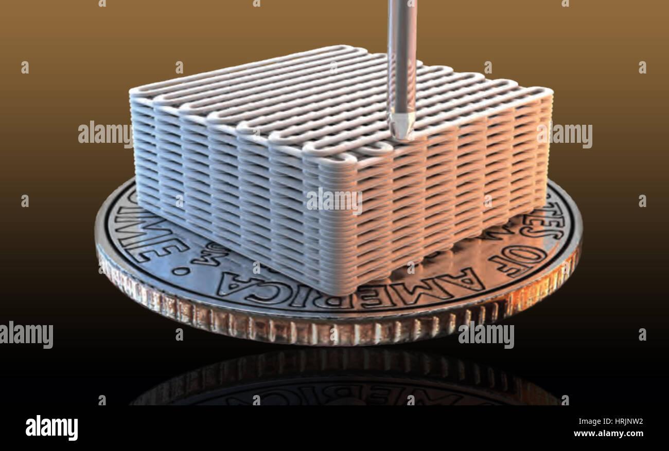 3-D Printed Graphene Aerogel Microlattices, 2015 - Stock Image