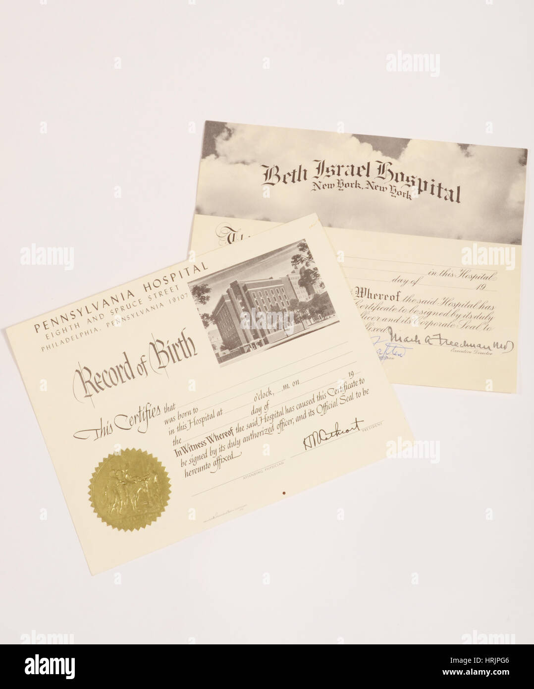 Birth Certificates Stock Photo 135022502 Alamy