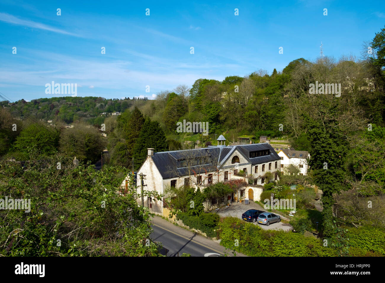 Nailsworth, England, UK - May 2016: Ruskin Mill is one of many historic mill buildings around Stroud, Gloucestershire, - Stock Image