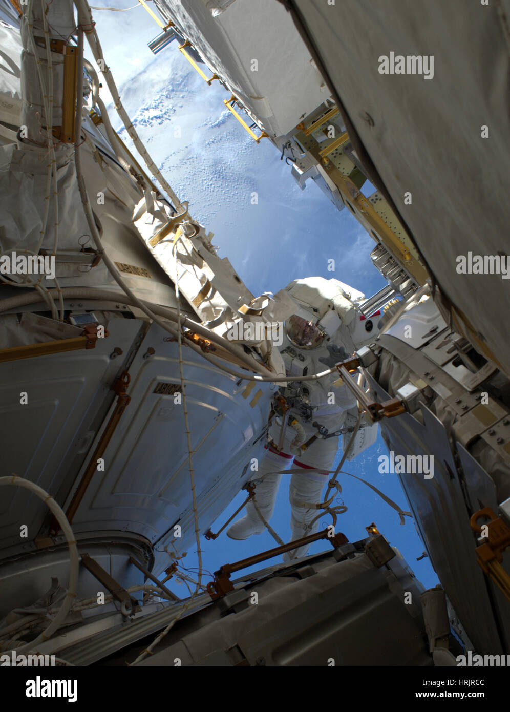 ISS Expedition 50 Spacewalk - Stock Image