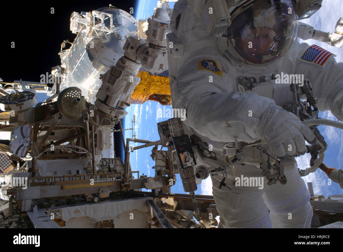 Astronaut Peggy Whitson Spacewalk - Stock Image