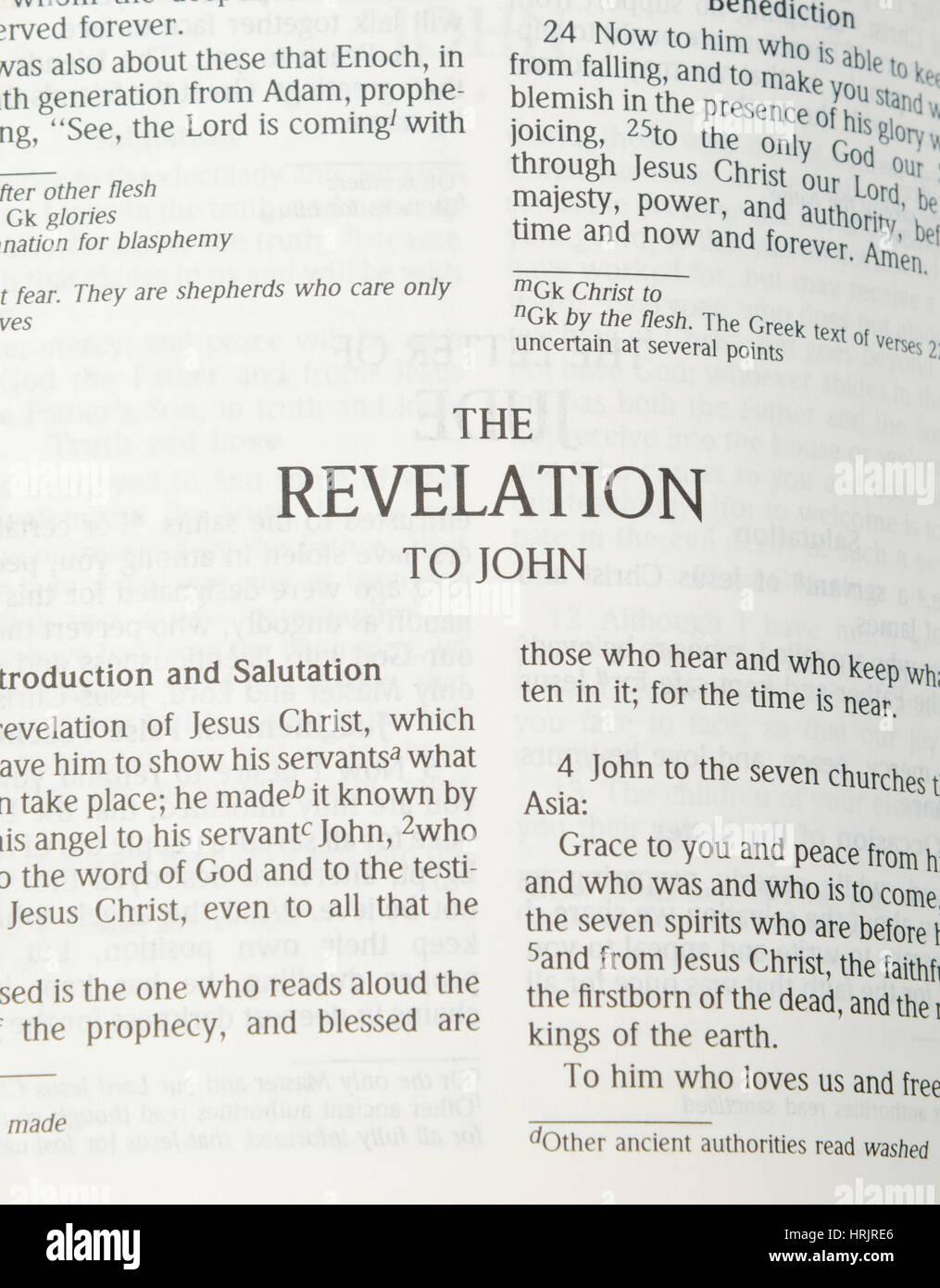 The Revelation to John - Stock Image