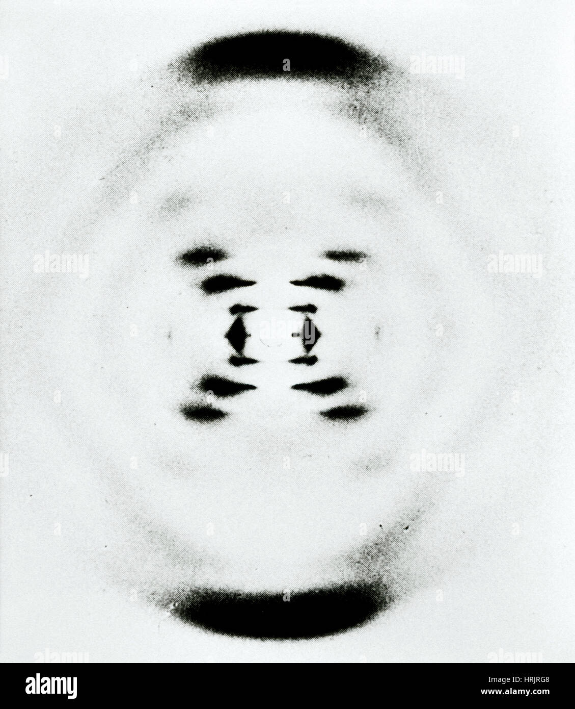 Rosalind Franklin's B-Form of DNA, 1953 Stock Photo