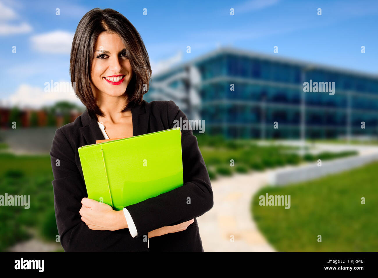 real estate female agent - Stock Image