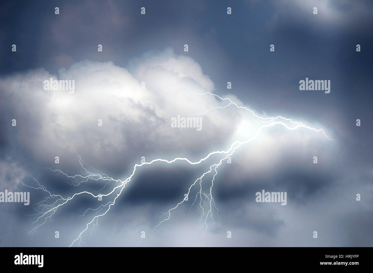 Cloudy Sky with white and black cloud, create darkness. - Stock Image