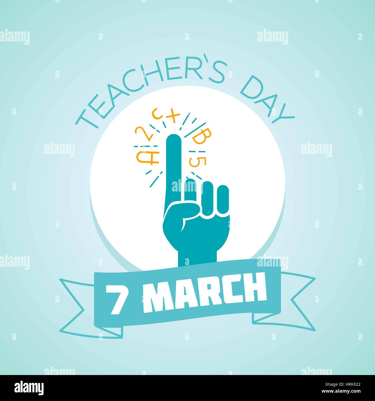 Calendar for each day on March 7. Greeting card. Holiday - teacher s Day. Icon in the linear style - Stock Vector