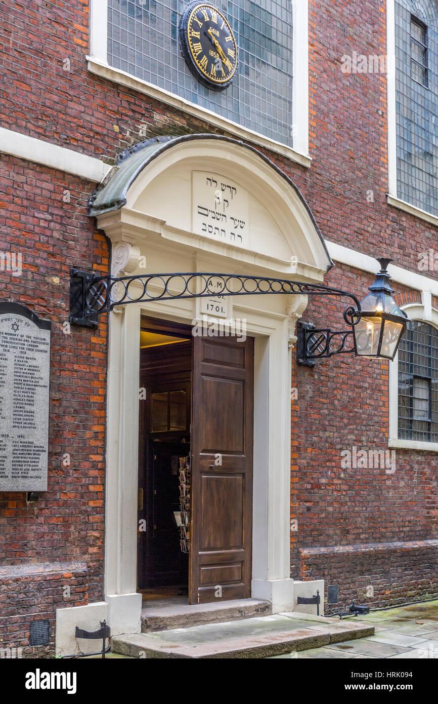 Bevis Marks, The oldest Synangogue in Western Europe, London England UK - Stock Image