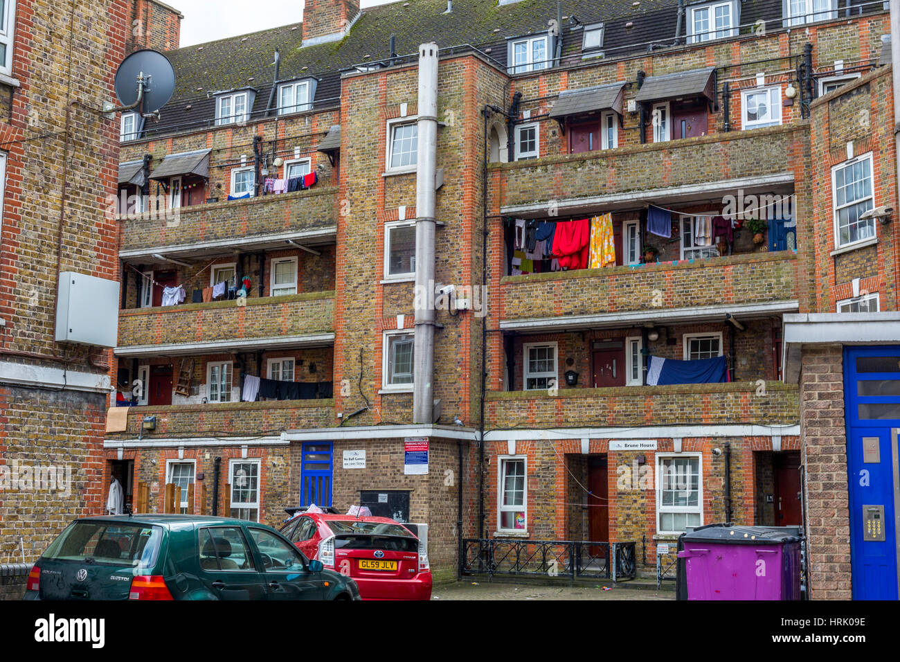 Tower Hamlets council estate, London,England UK - Stock Image