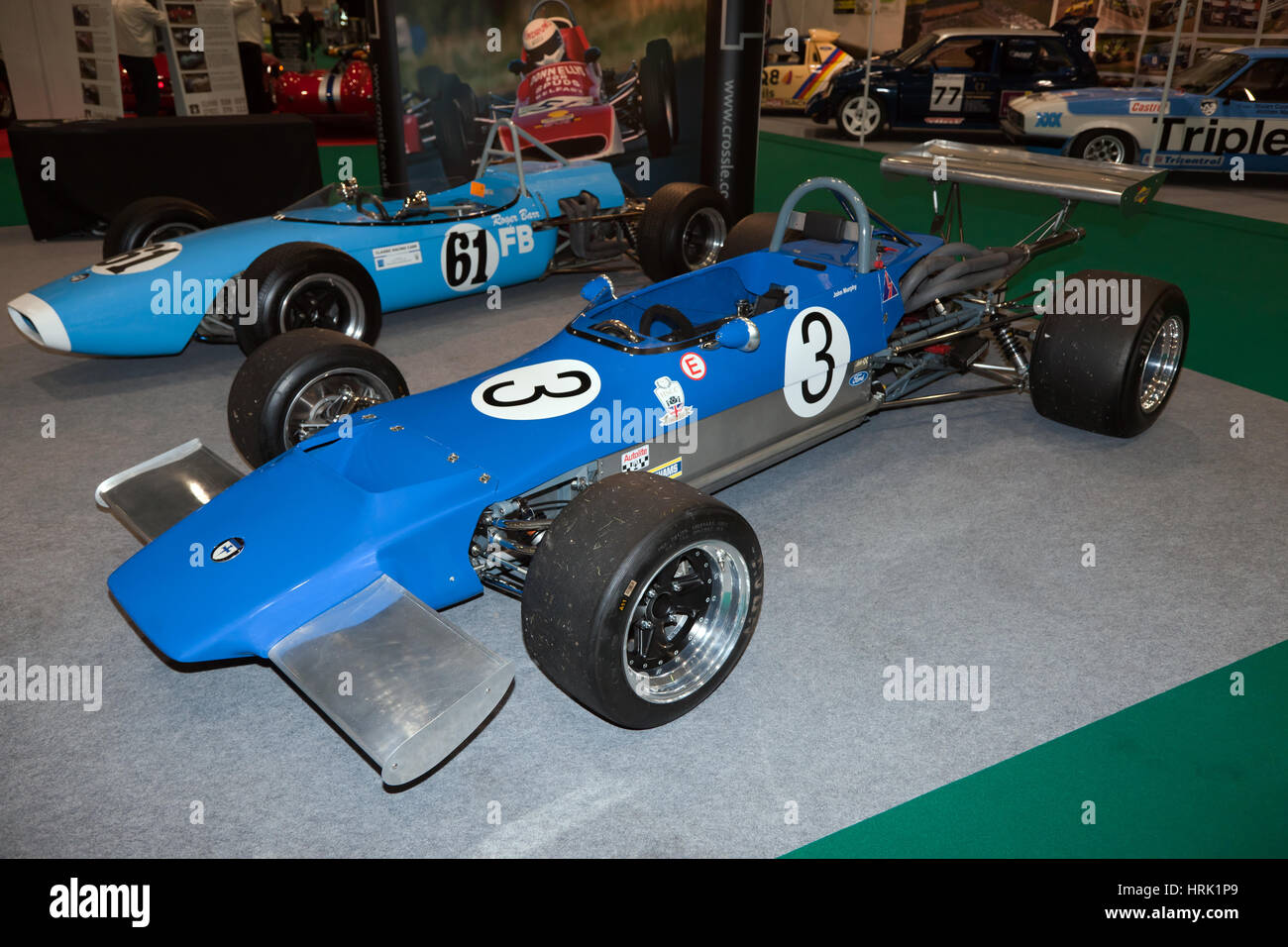 The Crossle Stand with the 22F, at the Historic Motosport International 2017 - Stock Image