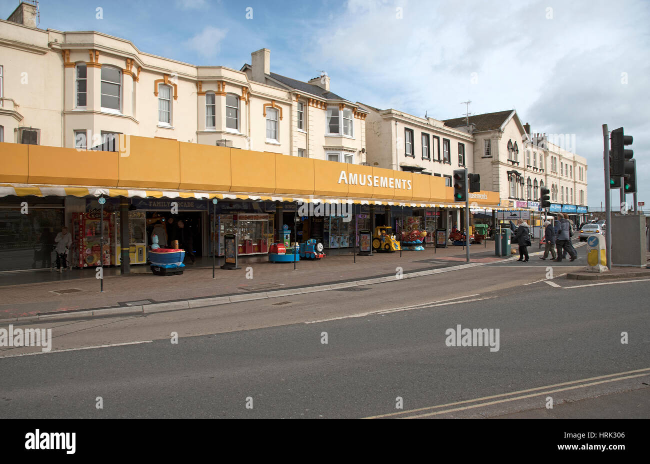 An amusement arcade in the seaside town of Dawlish South Devon England UK - Stock Image