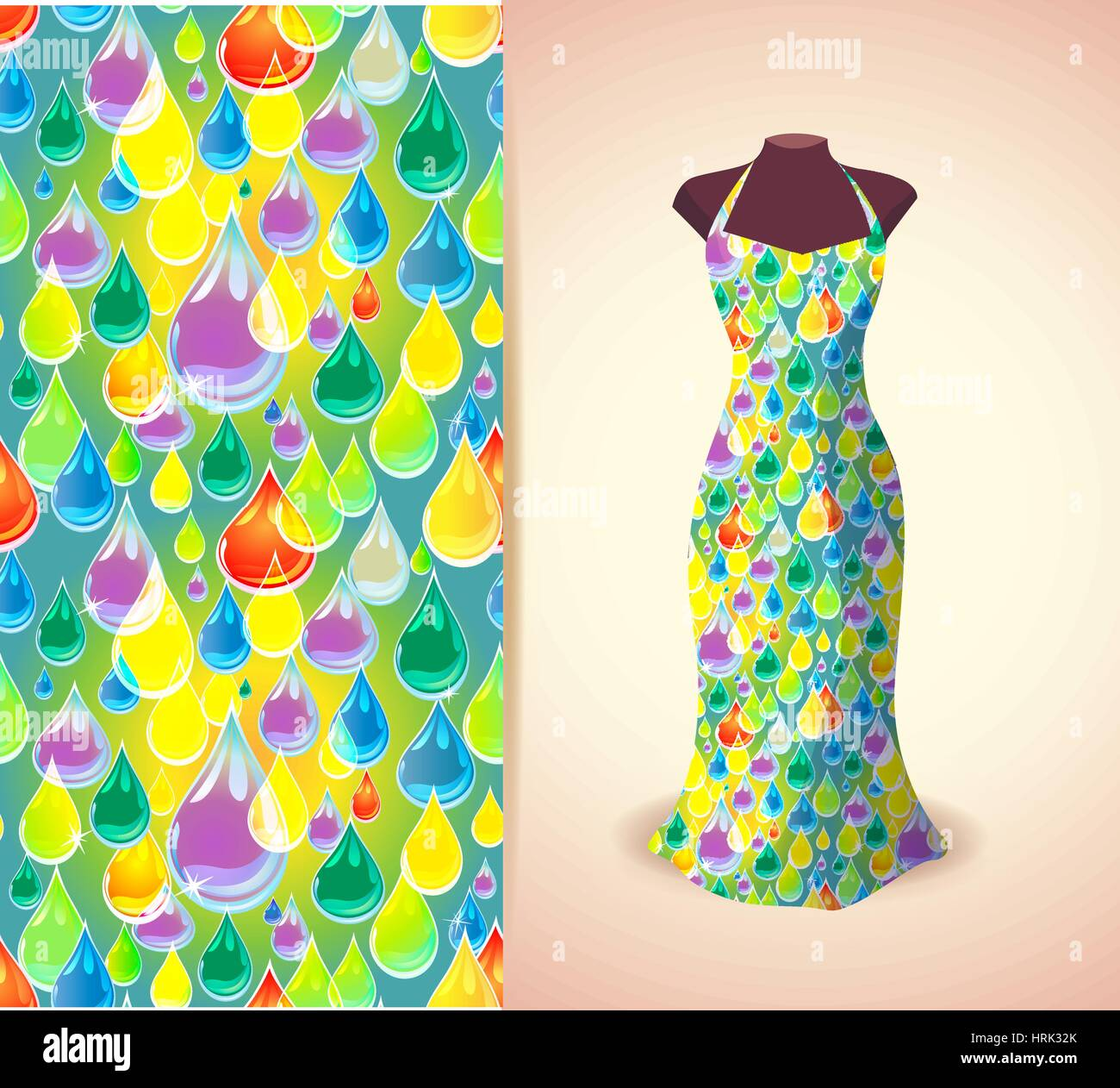 Vector Fashion Illustration Women S Dress On A Dummy Seamless Stock Vector Image Art Alamy