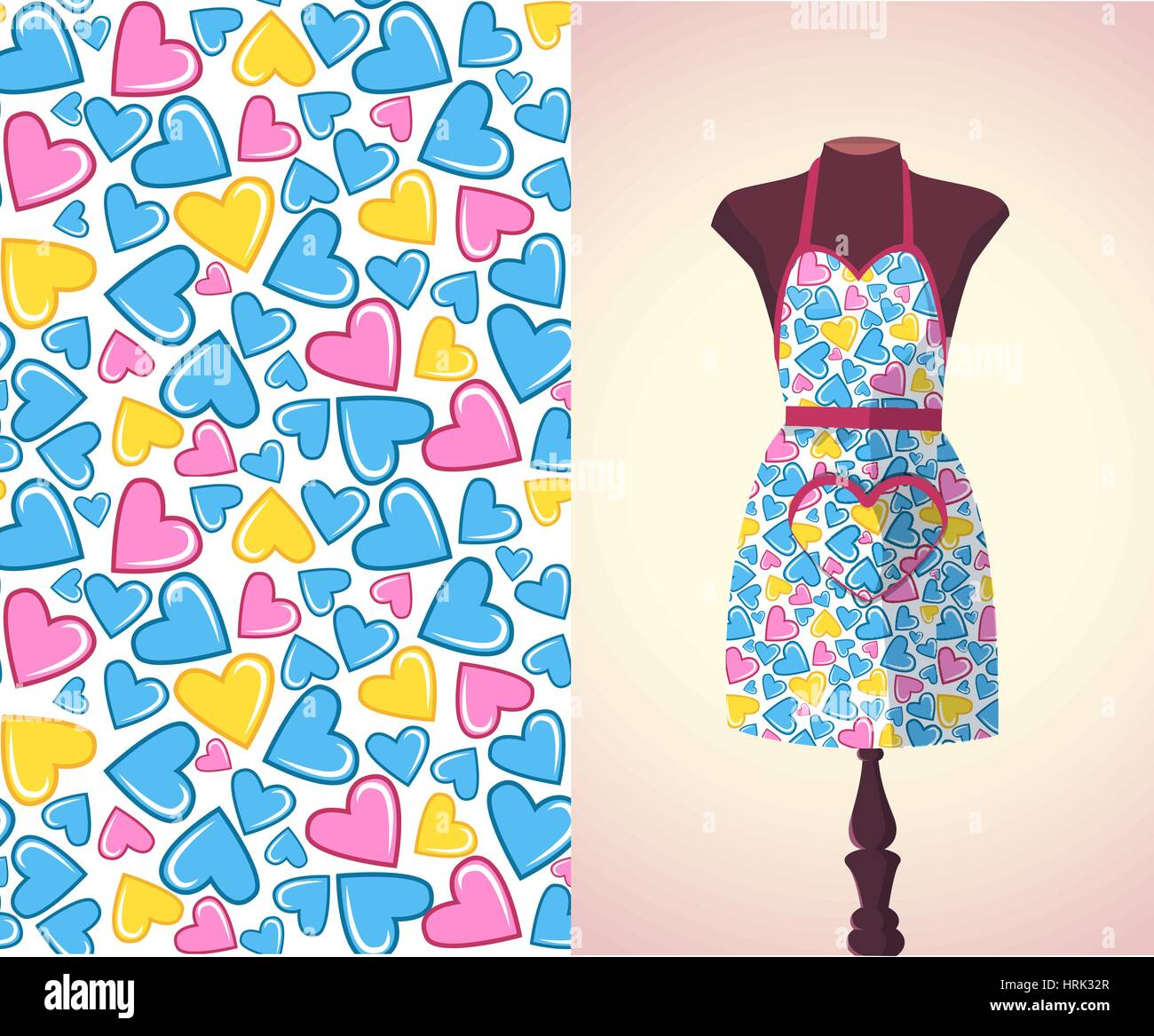 Fashion With Apron Lady Stock Photos & Fashion With Apron Lady Stock ...