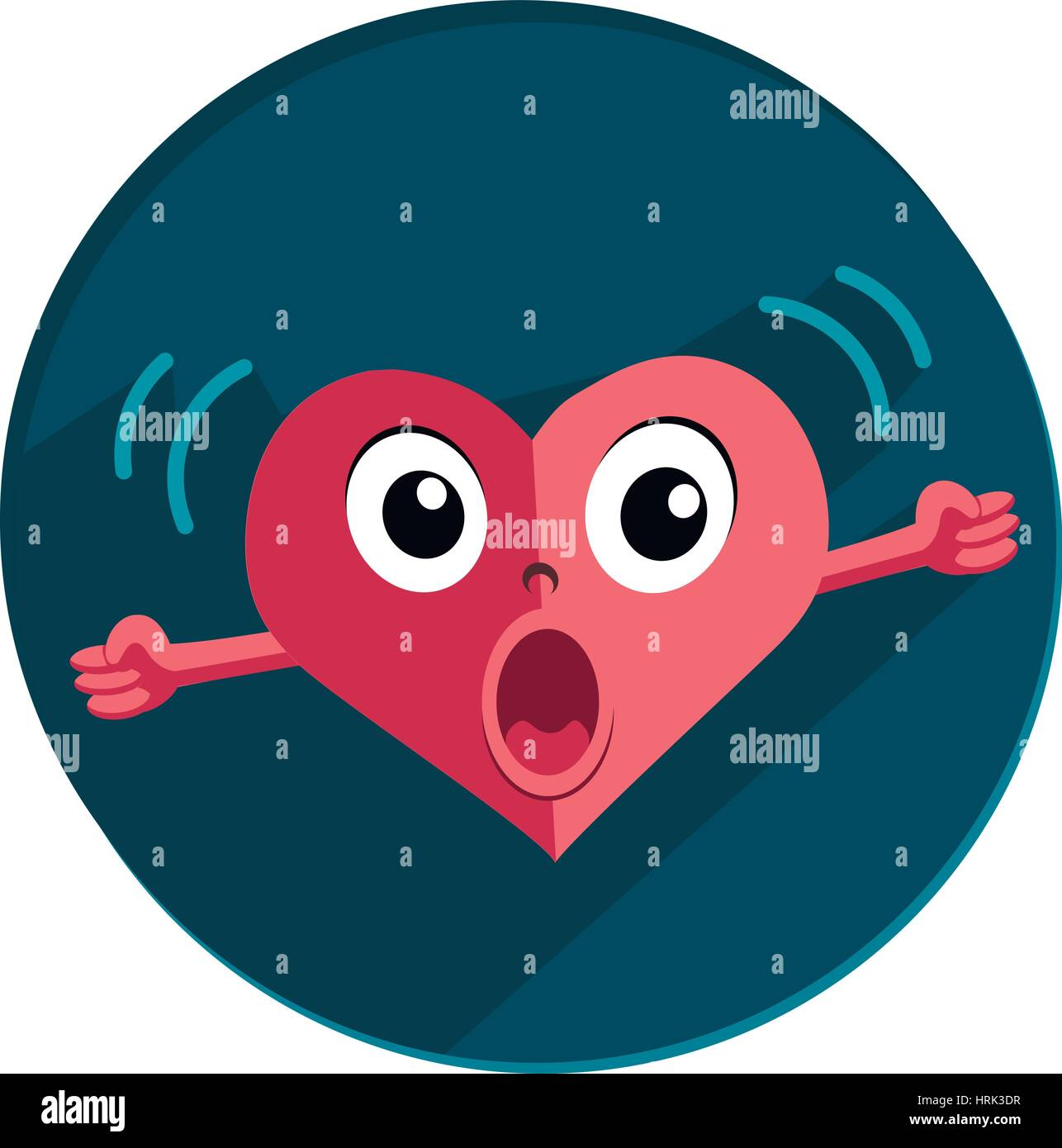 heart in anger with his fists and screaming - Stock Vector