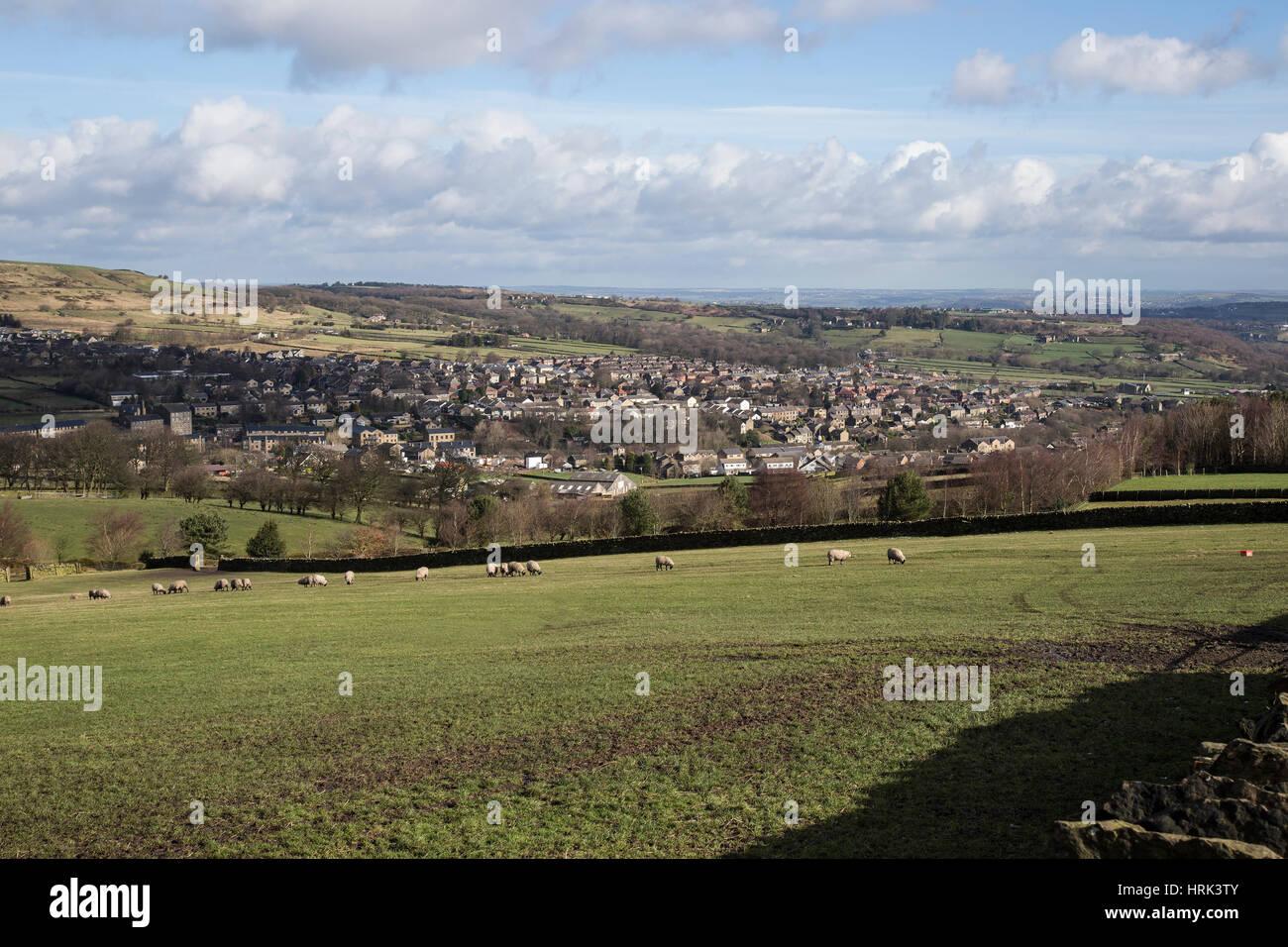 Meltham village in West Yorkshire - Stock Image