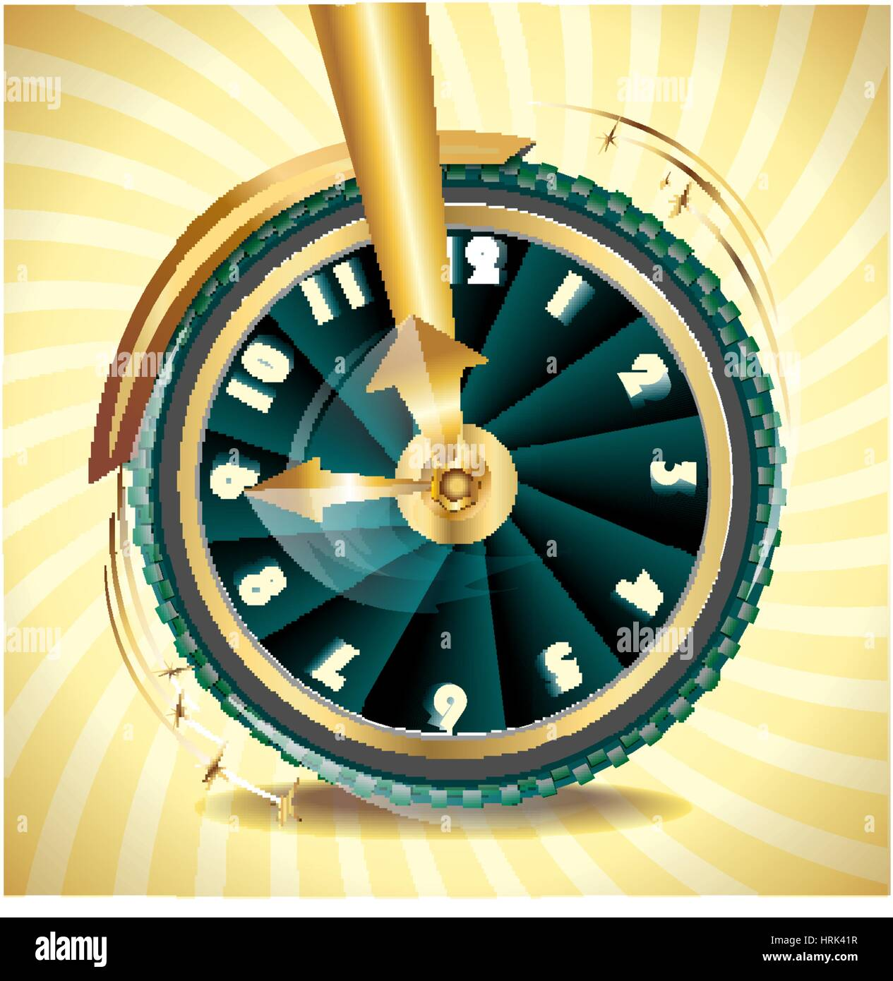 wheel as symbol of transience of time - Stock Vector