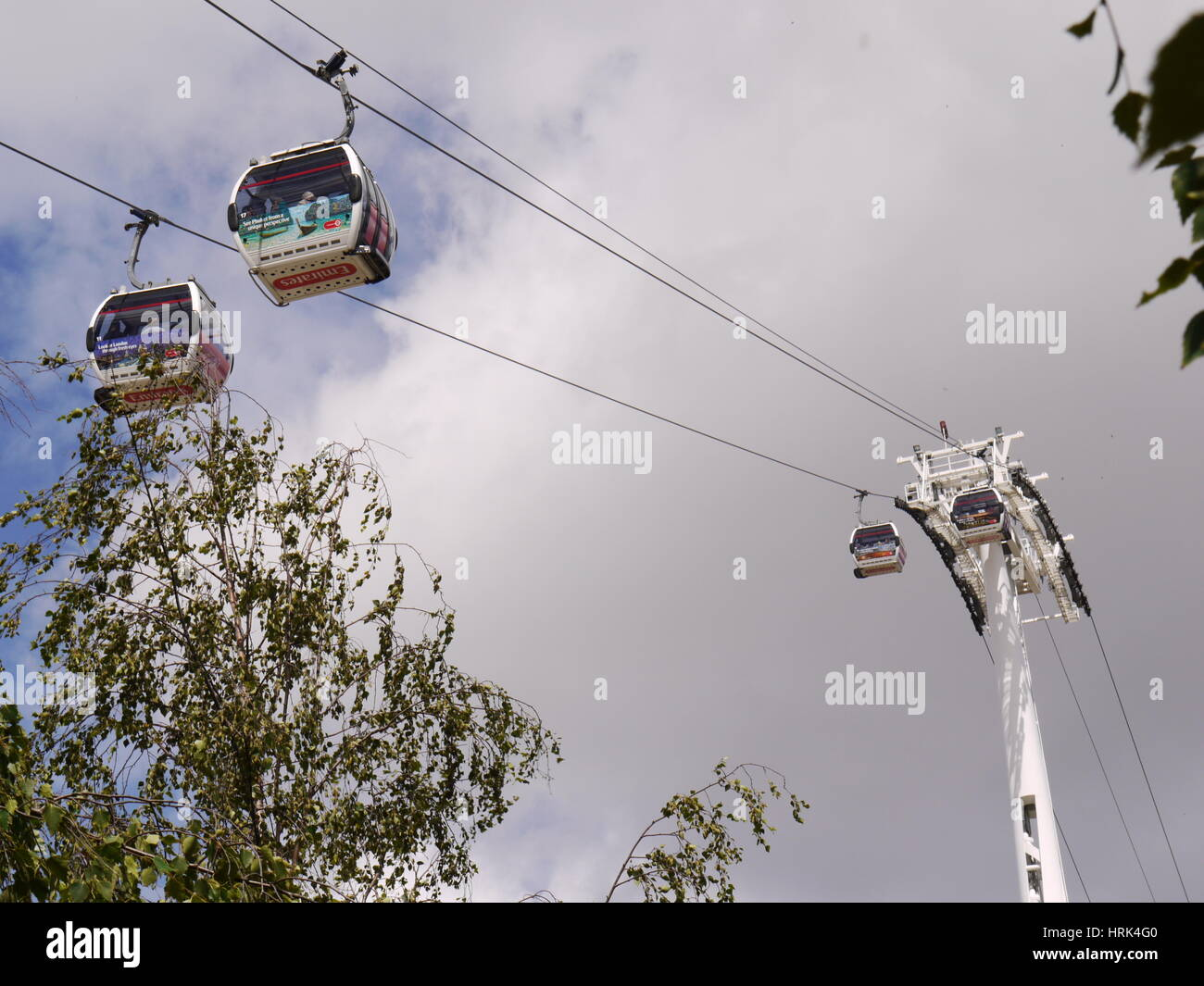 The Emirates Airline Cable Car - Stock Image