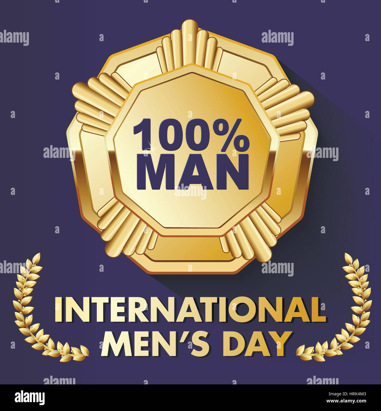 card for a real man with a medal - Stock Vector