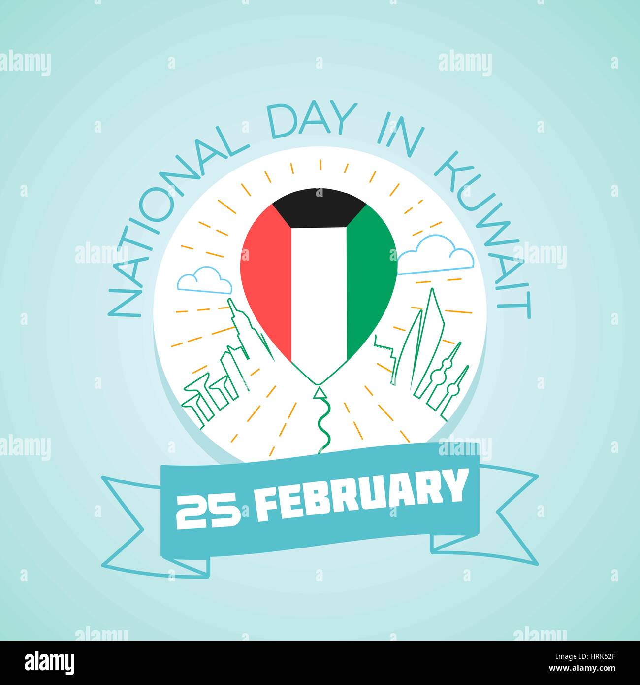 Kuwait National Day Stock Vector Images Alamy