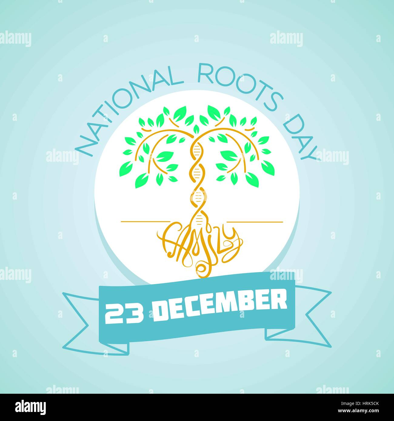 Calendar for each day on December 23. Greeting card. Holiday - National Roots Day. Icon in the linear style - Stock Image