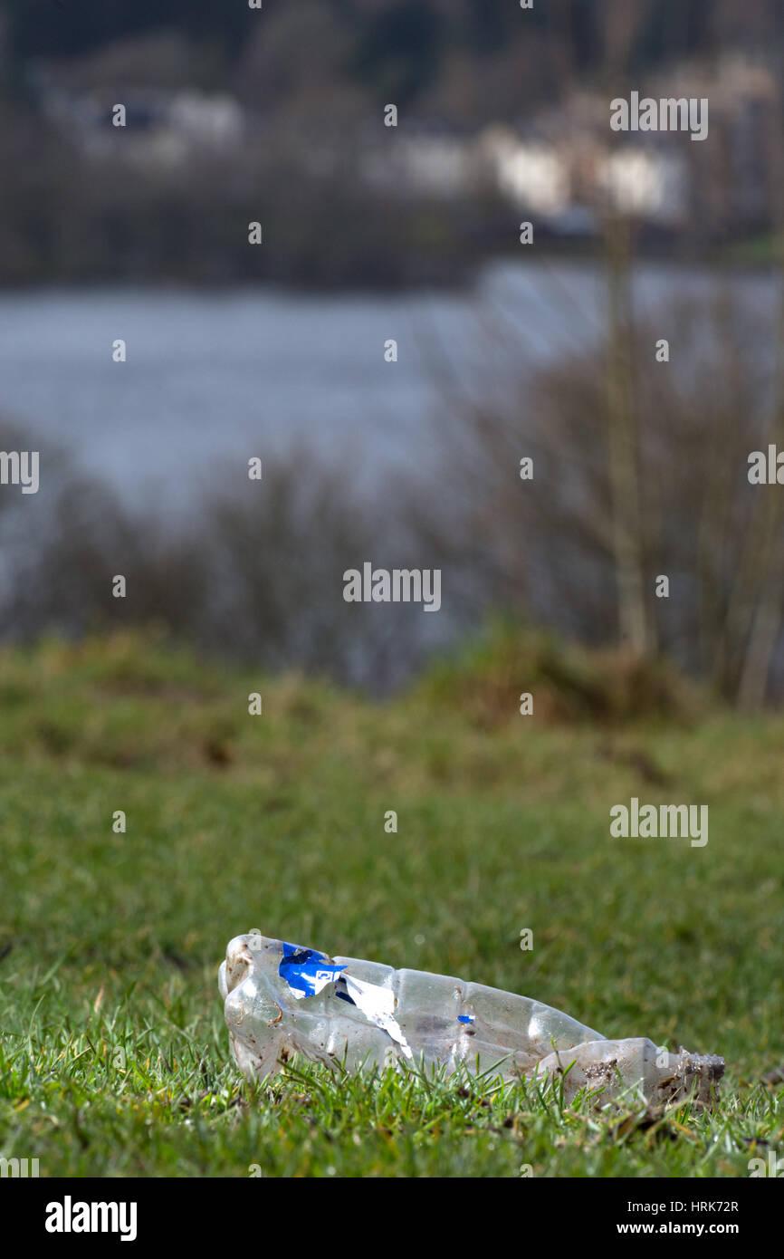 Littering Loch Lomond - Stock Image