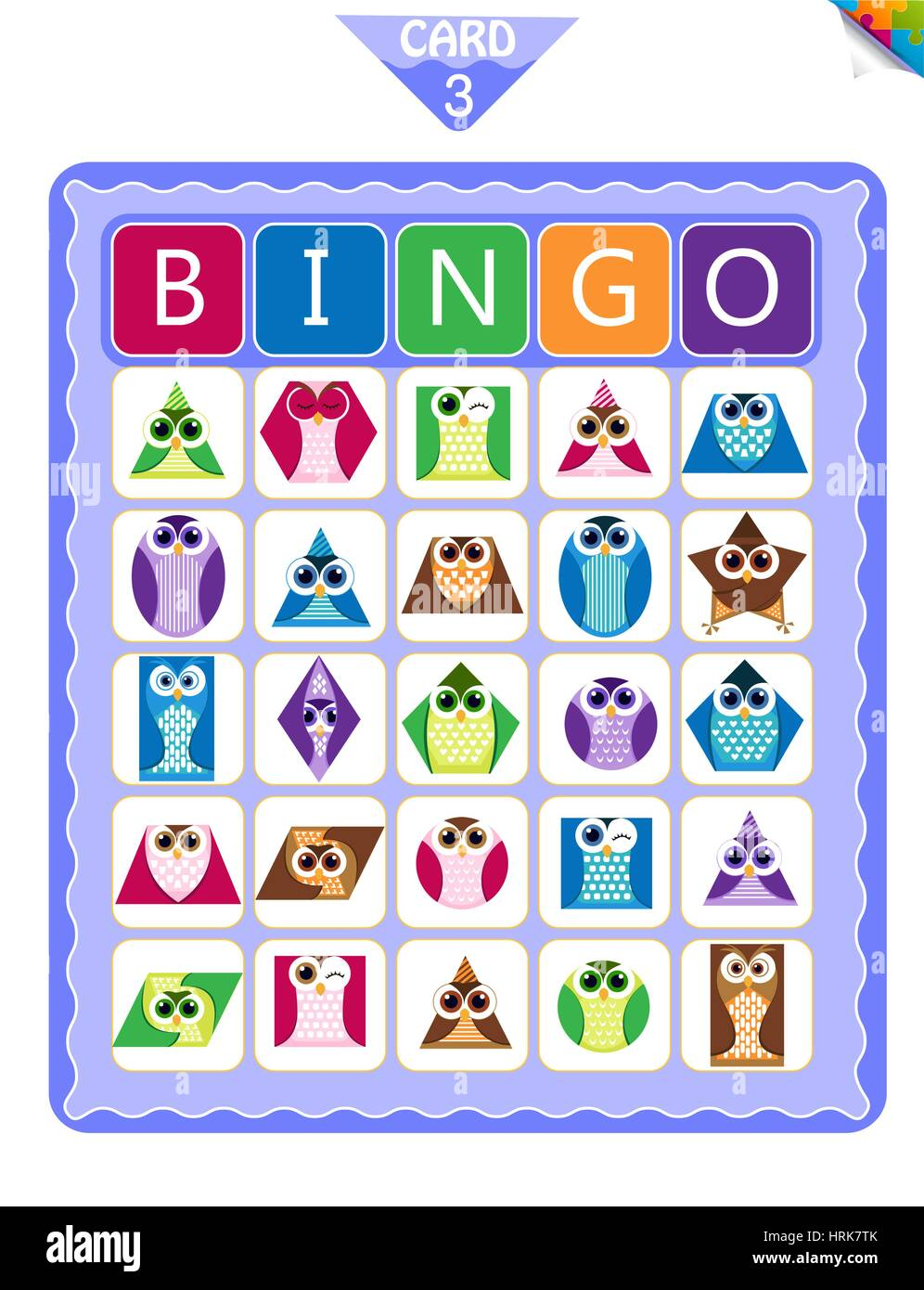 Printable Educational Bingo Game For Preschool Kids With Shapes In