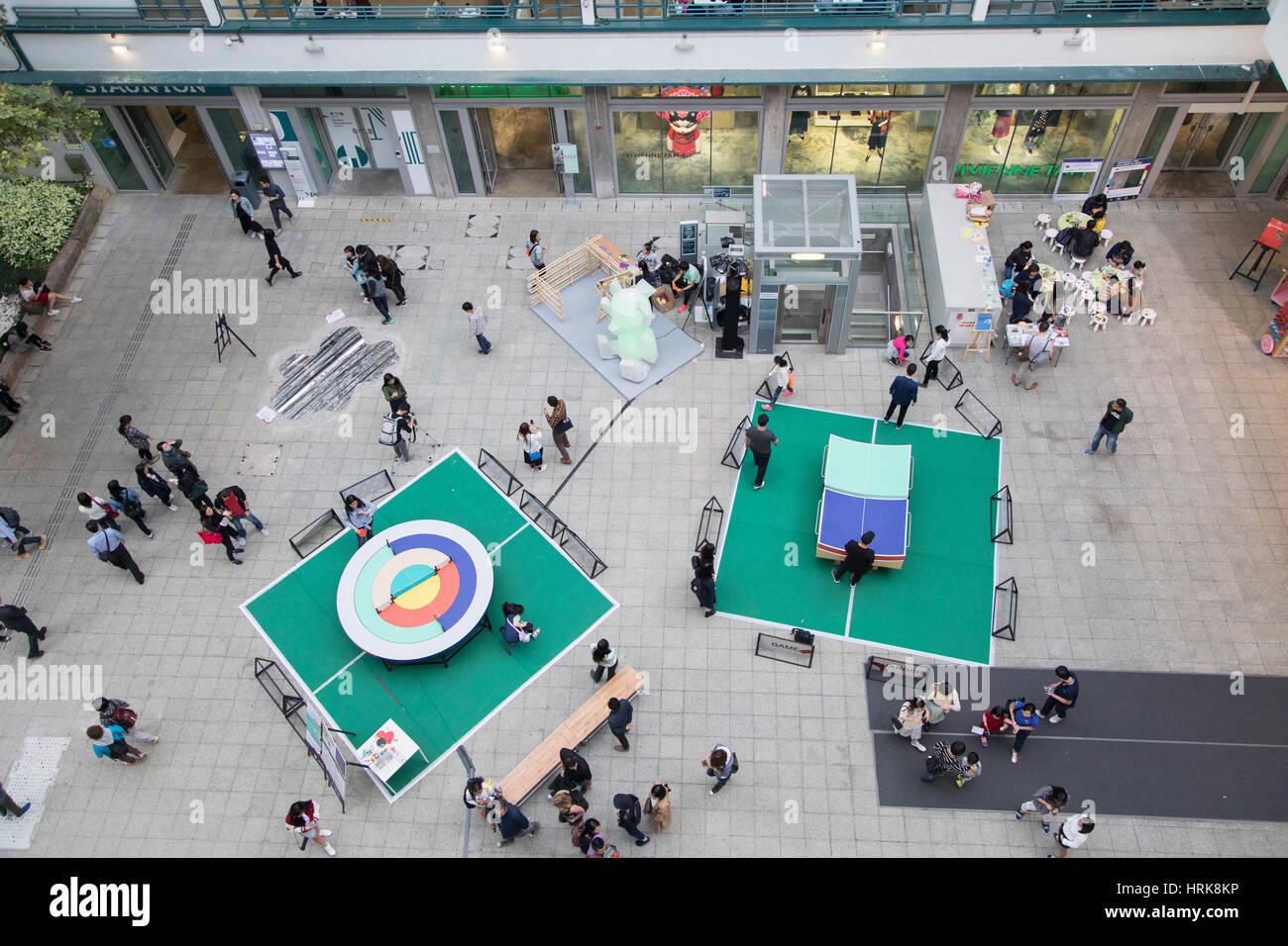 Art installation in PMQ (former Police Married Quarters), Central, Hong Kong Island, Hong Kong, China - Stock Image