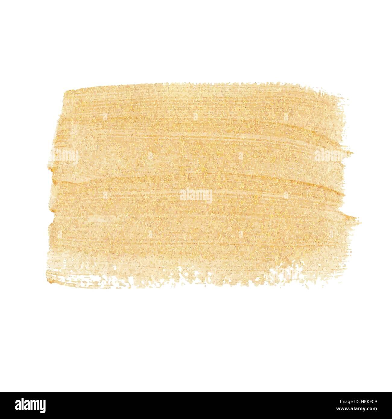 Gold acrylic paint vector banner Stock Vector Art