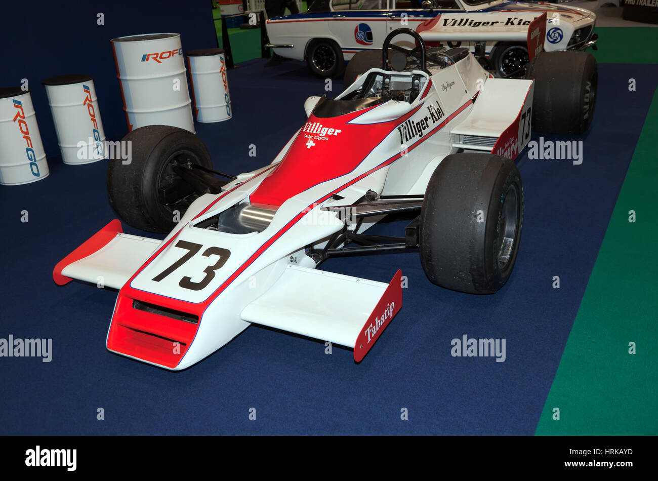 View of Clay Regazzoni's  Shadow  DN9 Formula One Race car, on display at Historic Motorsport International - Stock Image
