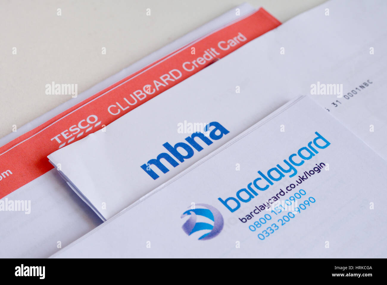 Tesco bank card stock photos tesco bank card stock images alamy stack of credit card statements including tesco bank barclaycard and mbna indicative of the reheart Images