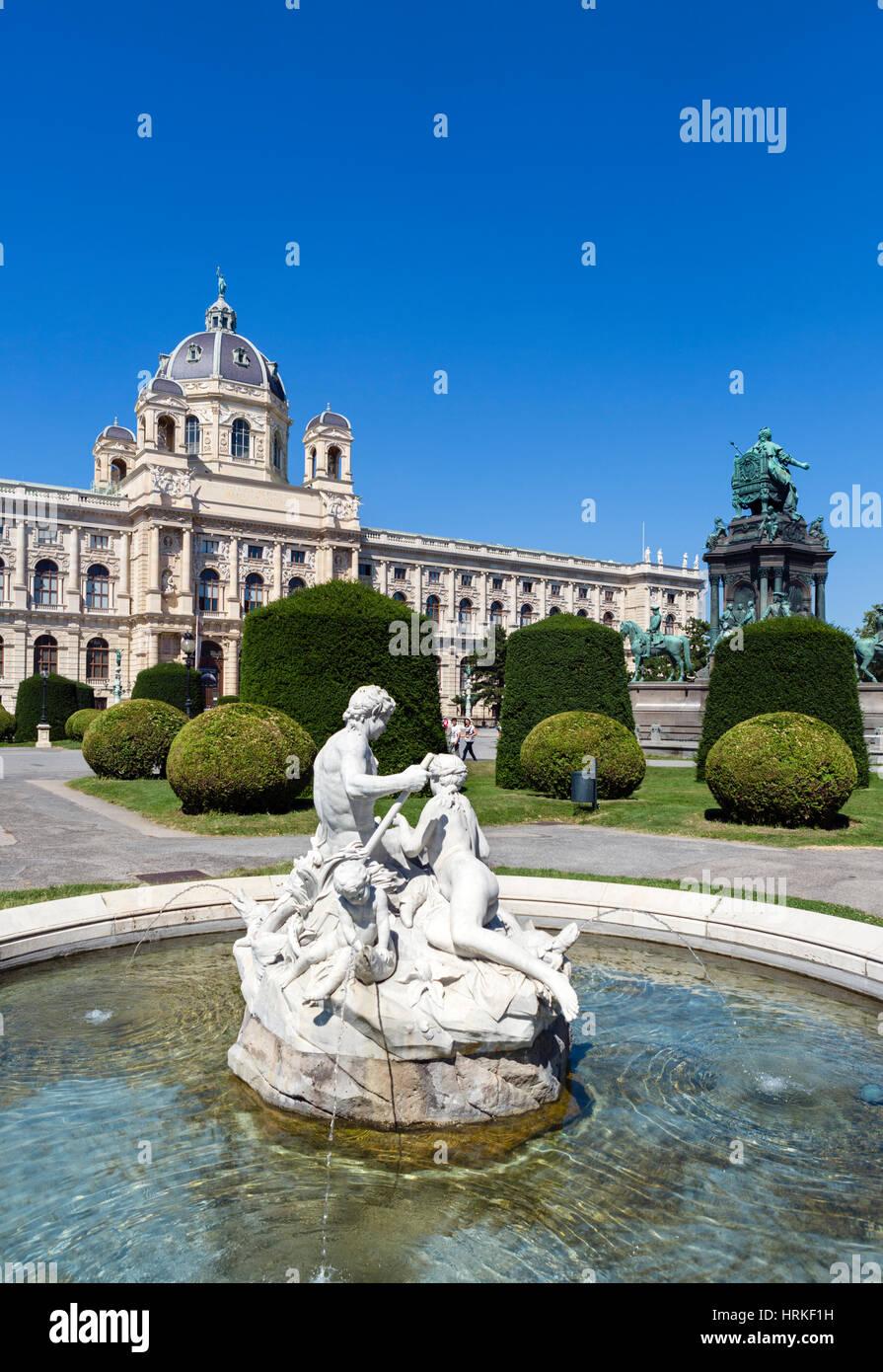The Natural History Museum ( Naturhistorisches Museum ), Maria-Theresien-Platz, Vienna, Austria - Stock Image