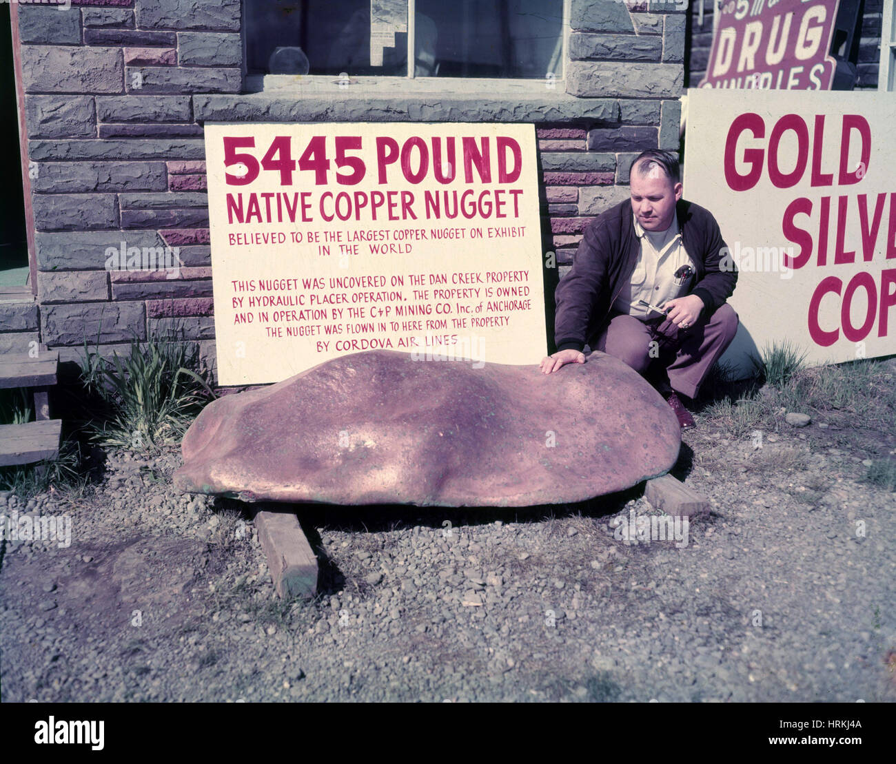 Giant Copper Nugget, Historical - Stock Image