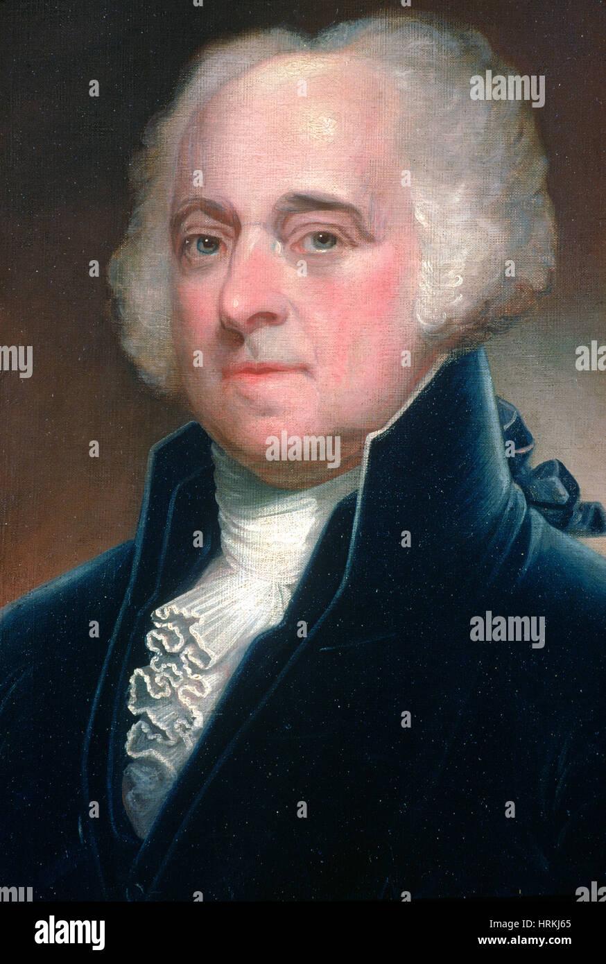 Art Oil painting America President John Adams on canvas