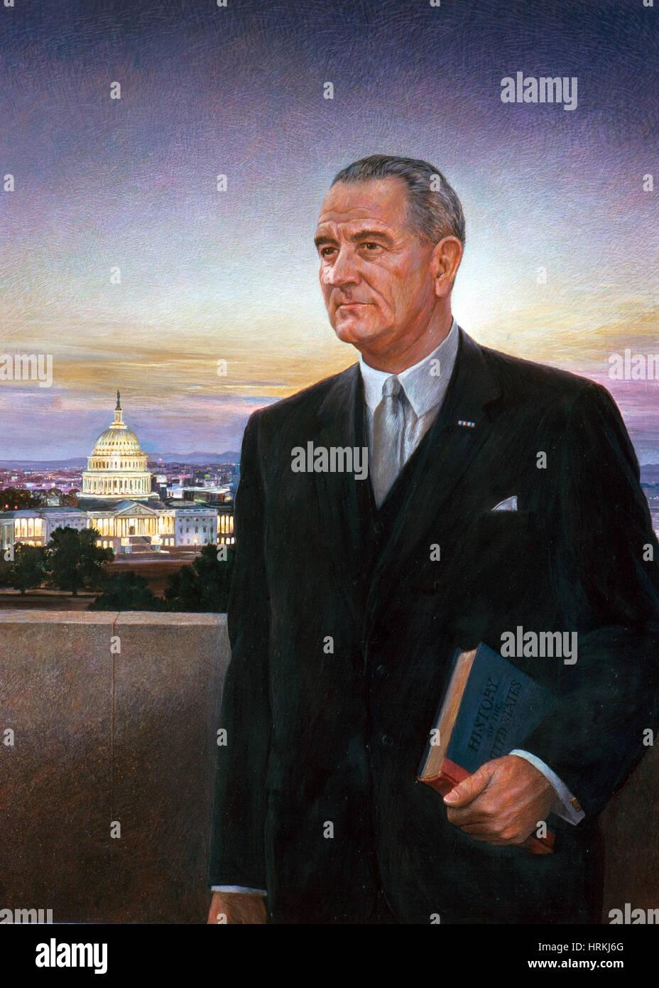 Lyndon B. Johnson, 36th U.S. President Stock Photo