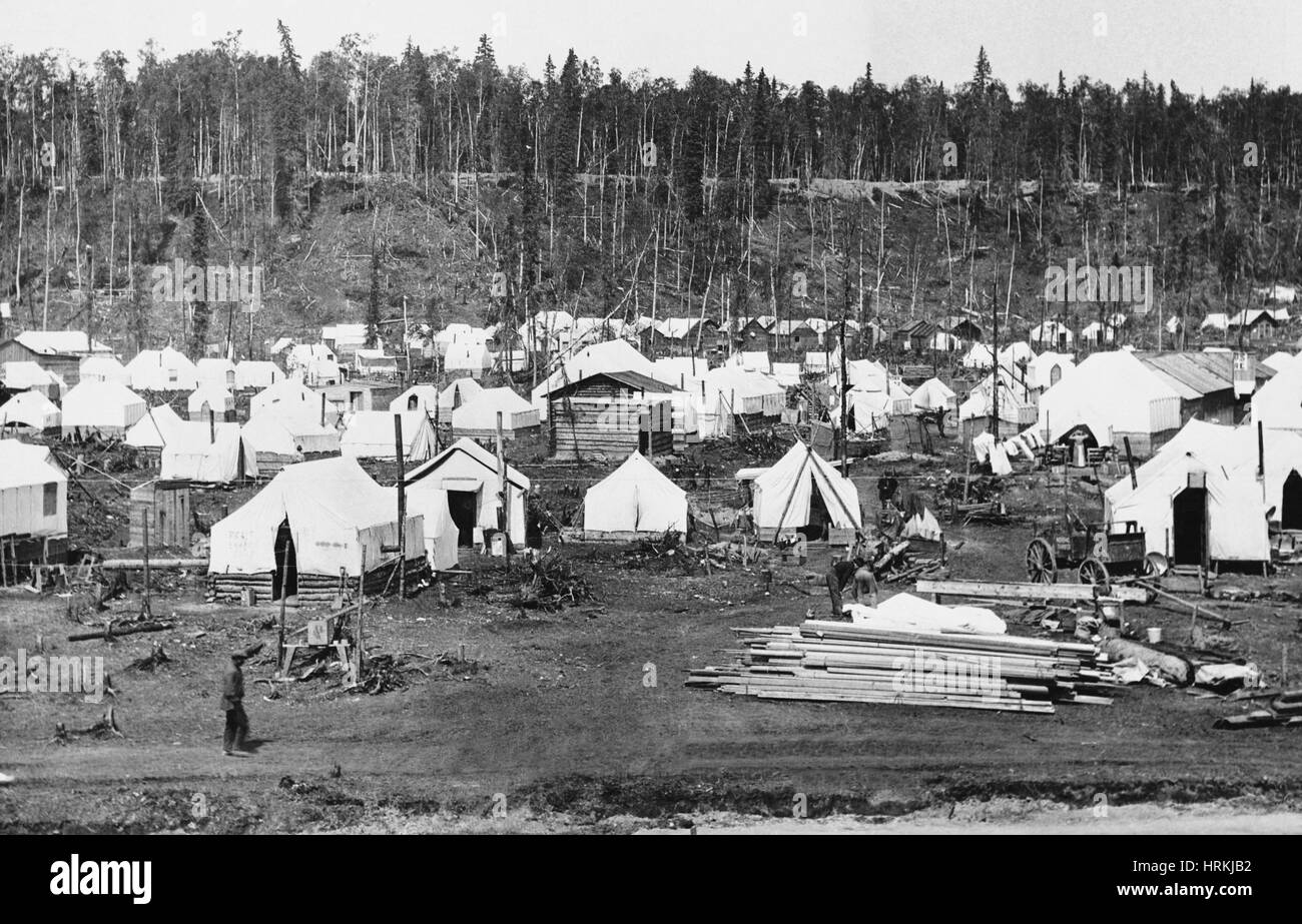 Anchorage, Alaska in 1915 - Stock Image