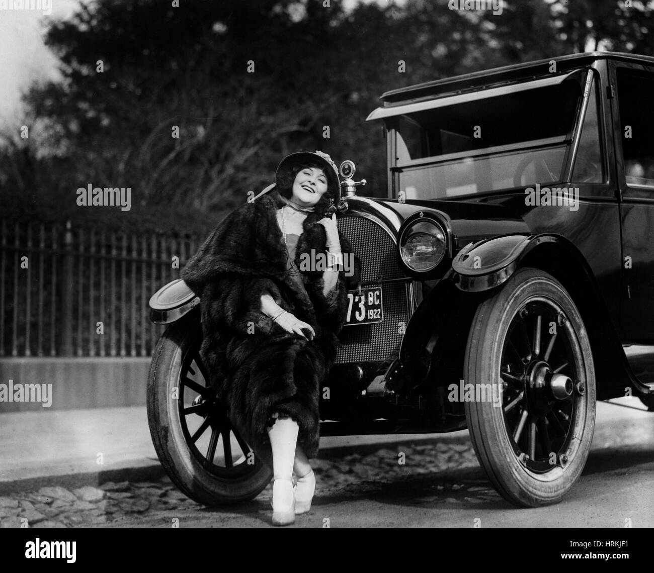 Hope Hampton, American Silent Movie Star - Stock Image