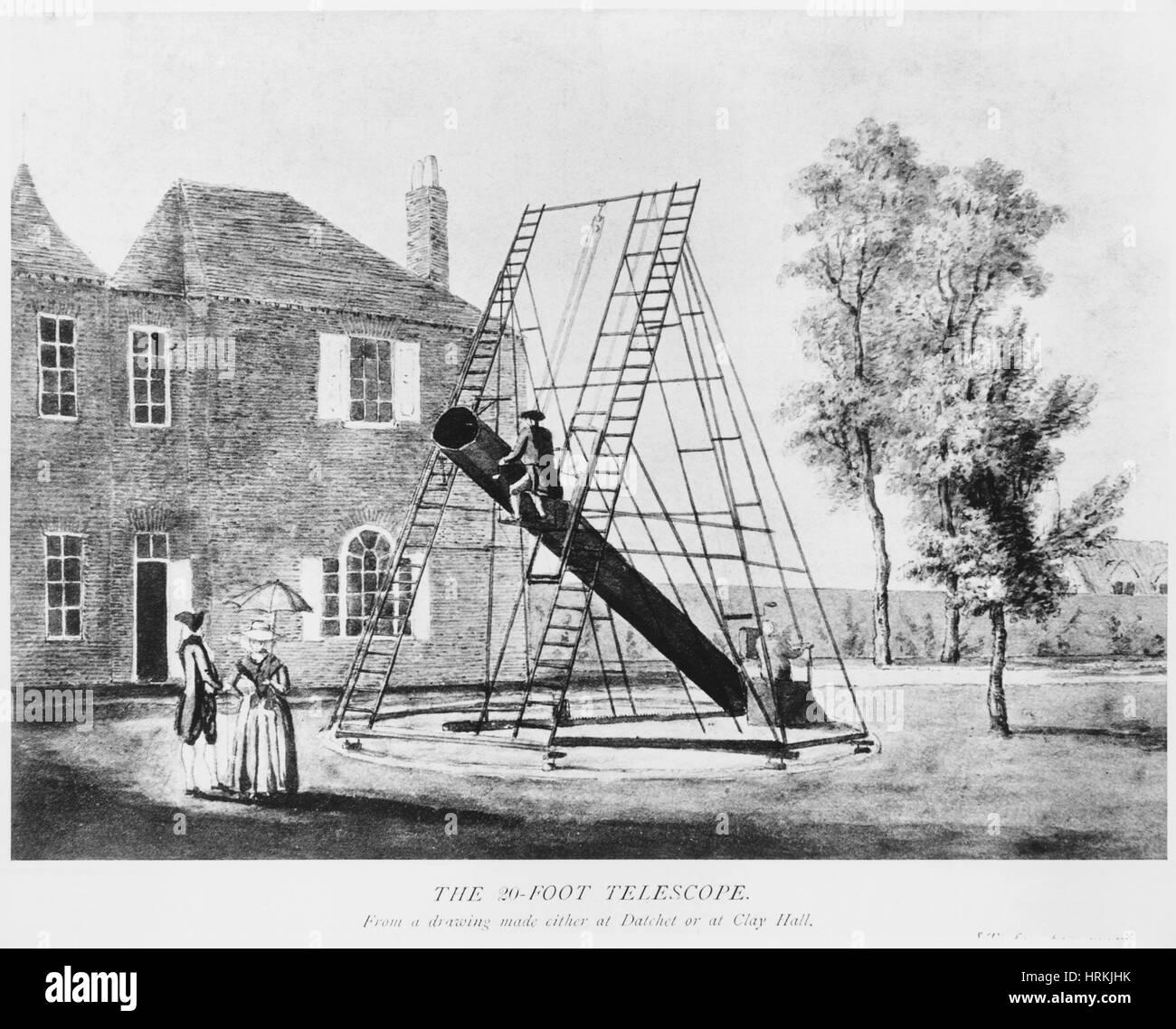 Herschel's 20 Foot Telescope - Stock Image