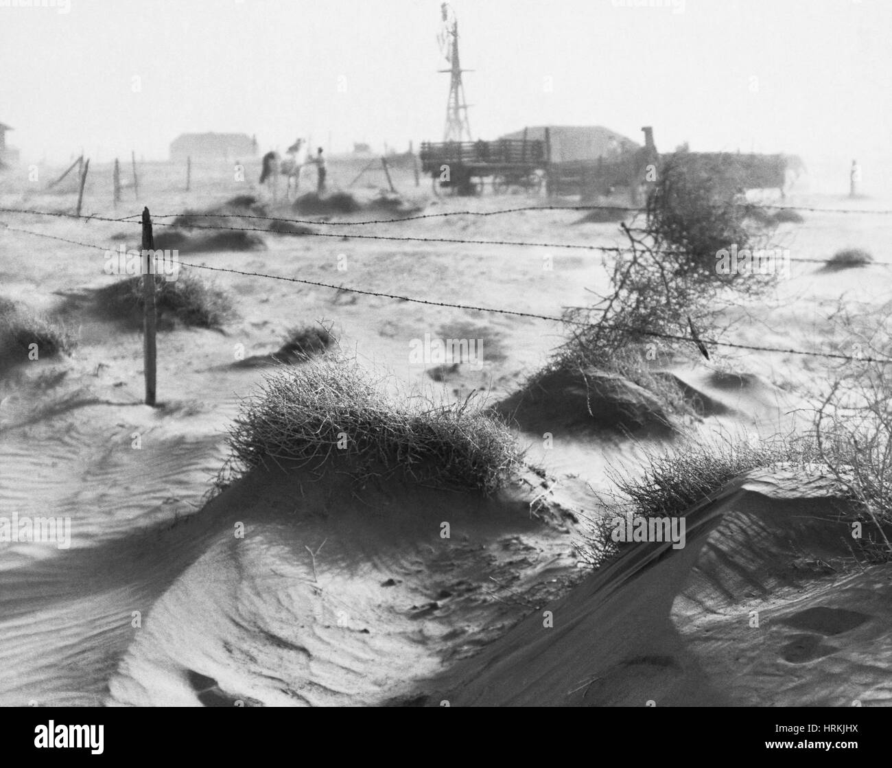 Dust Bowl, 1930s - Stock Image