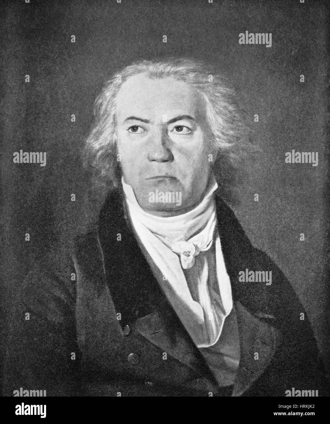 Ludwig van Beethoven. German Composer - Stock Image