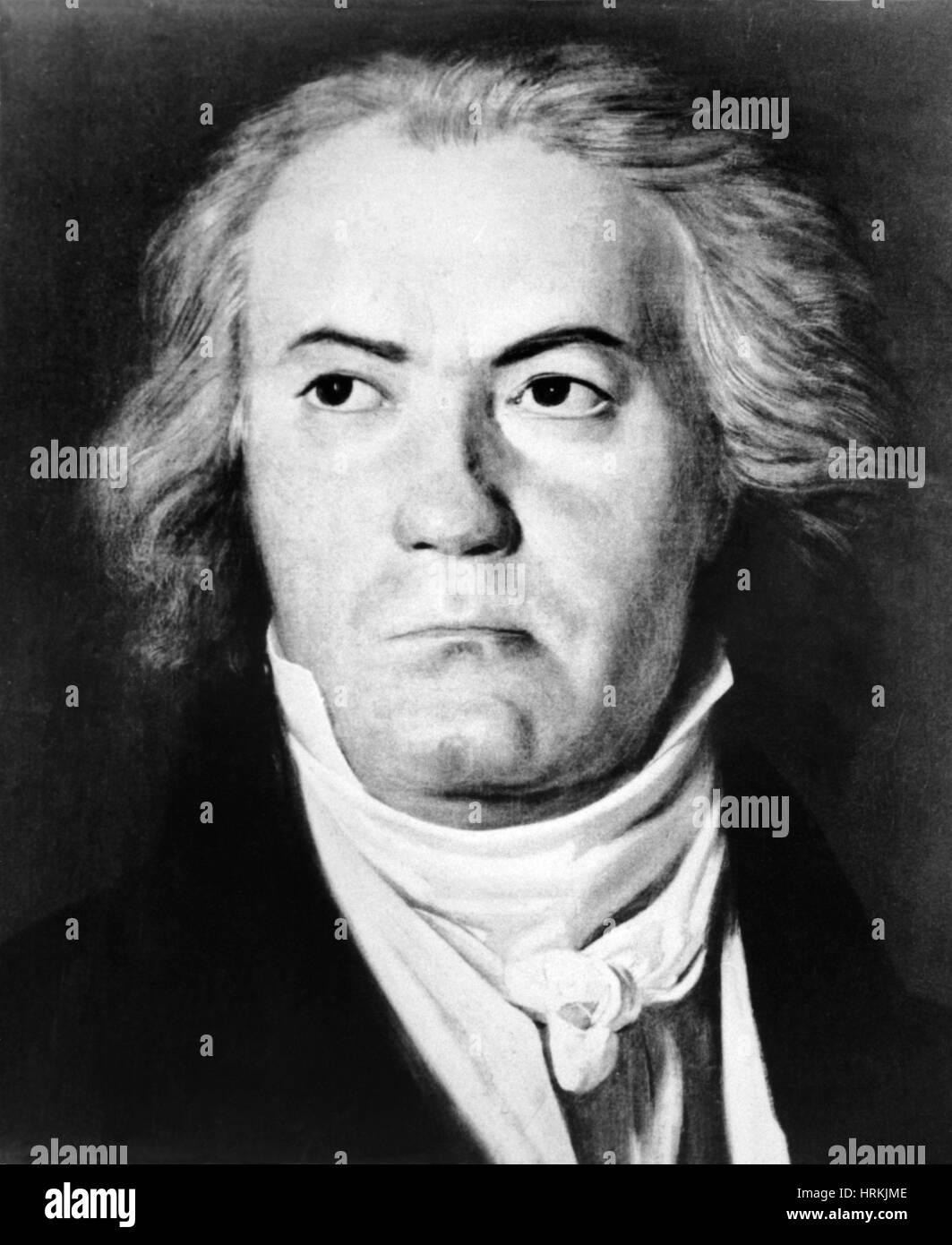 Ludwig van Beethoven, German Composer - Stock Image
