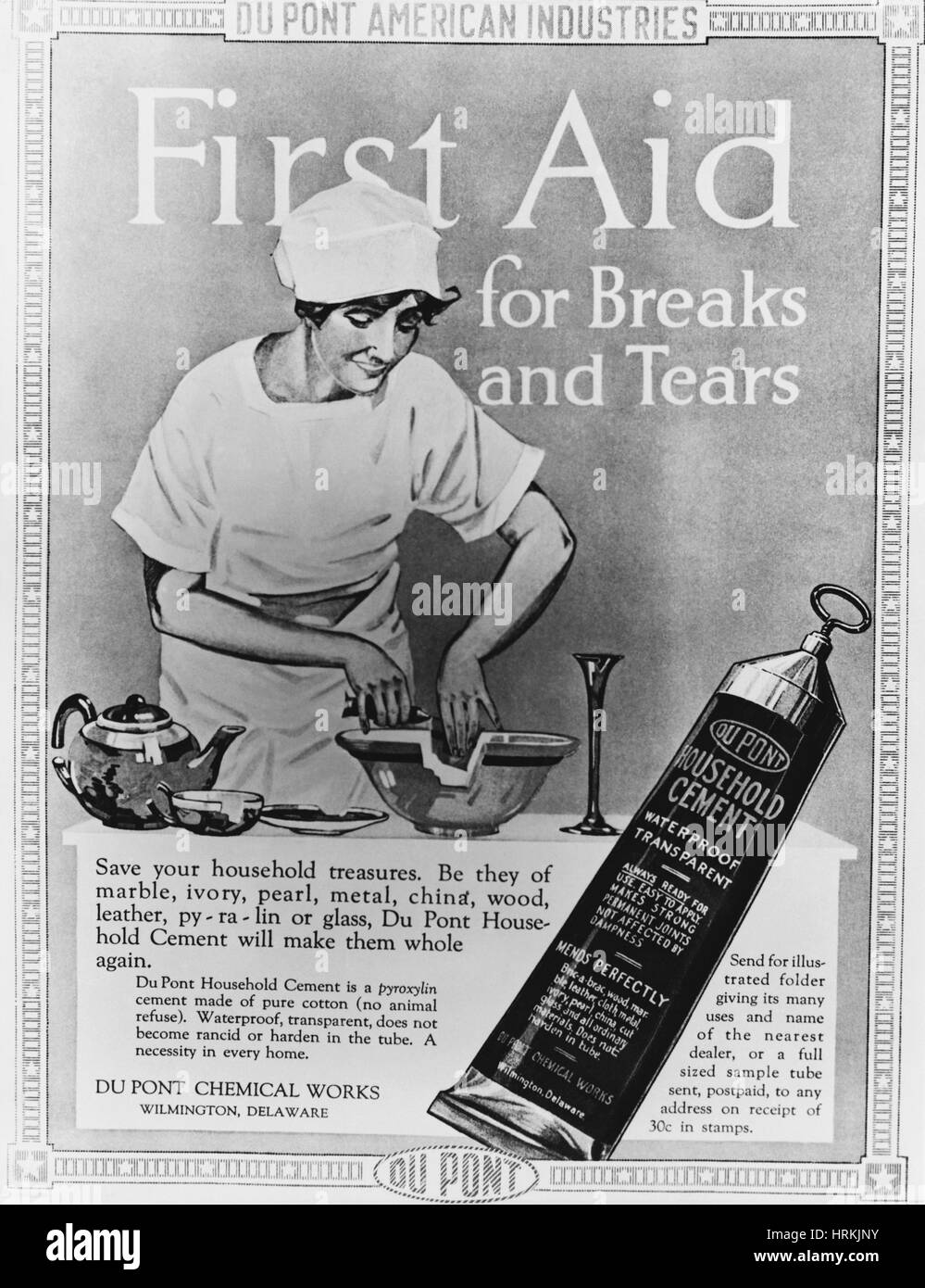 DuPont Household Cement Ad - Stock Image