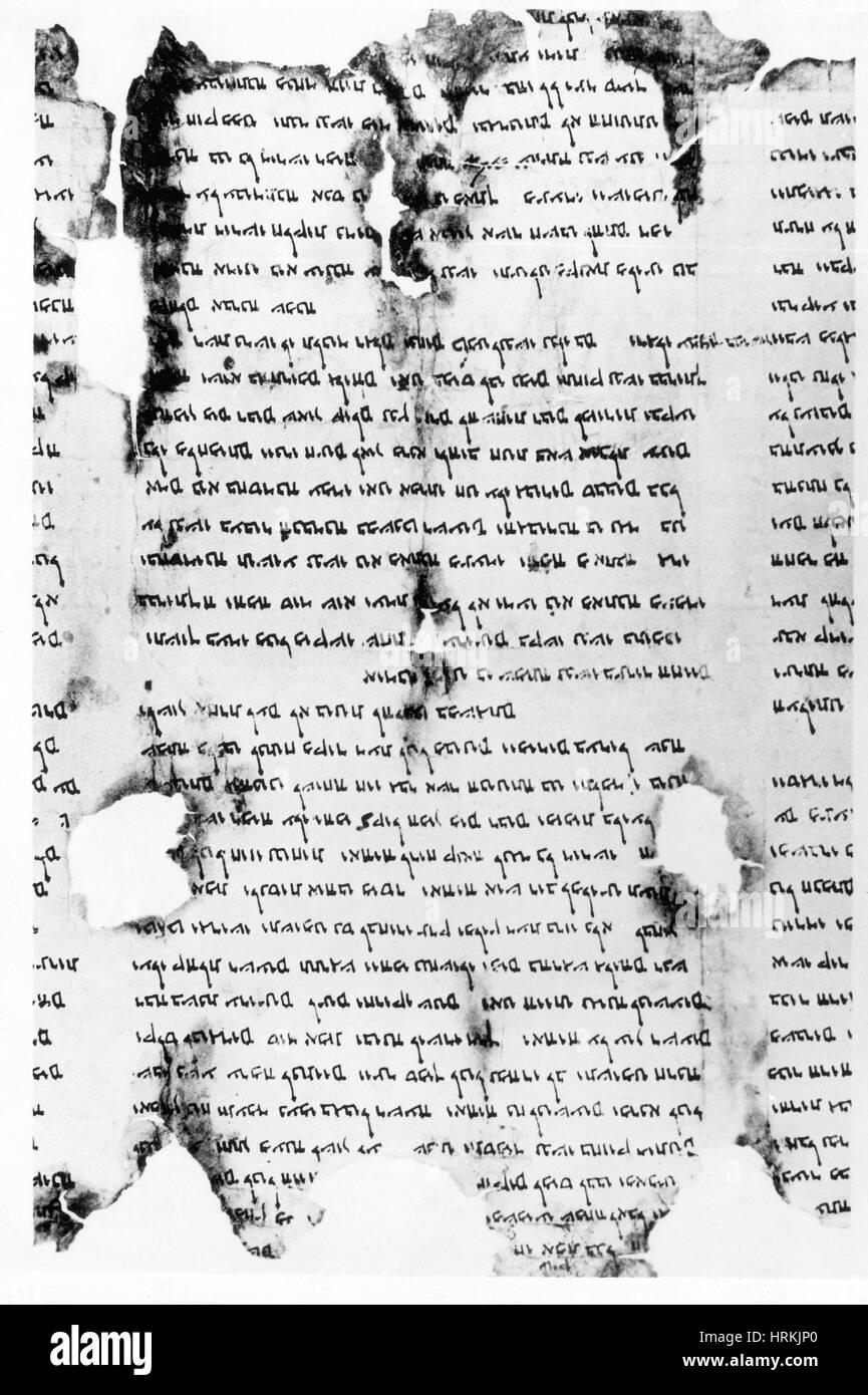 Dead Sea Scroll - Stock Image