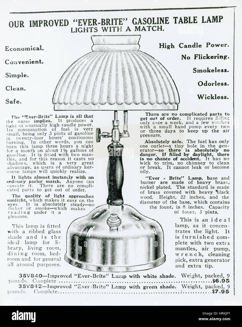 Gas Lamp Ad - Stock Image