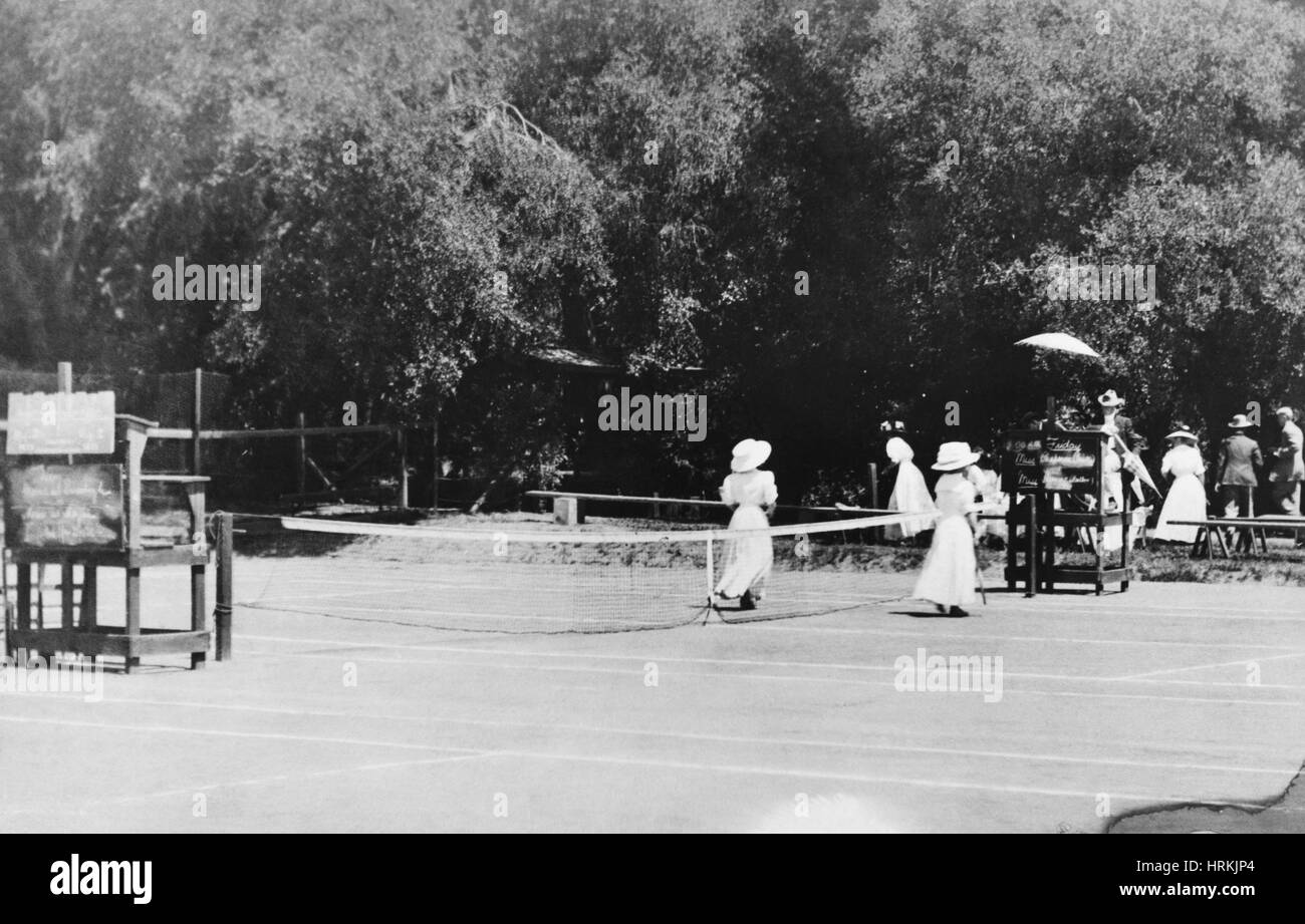 Tennis Champions Sutton and Hotchkiss - Stock Image