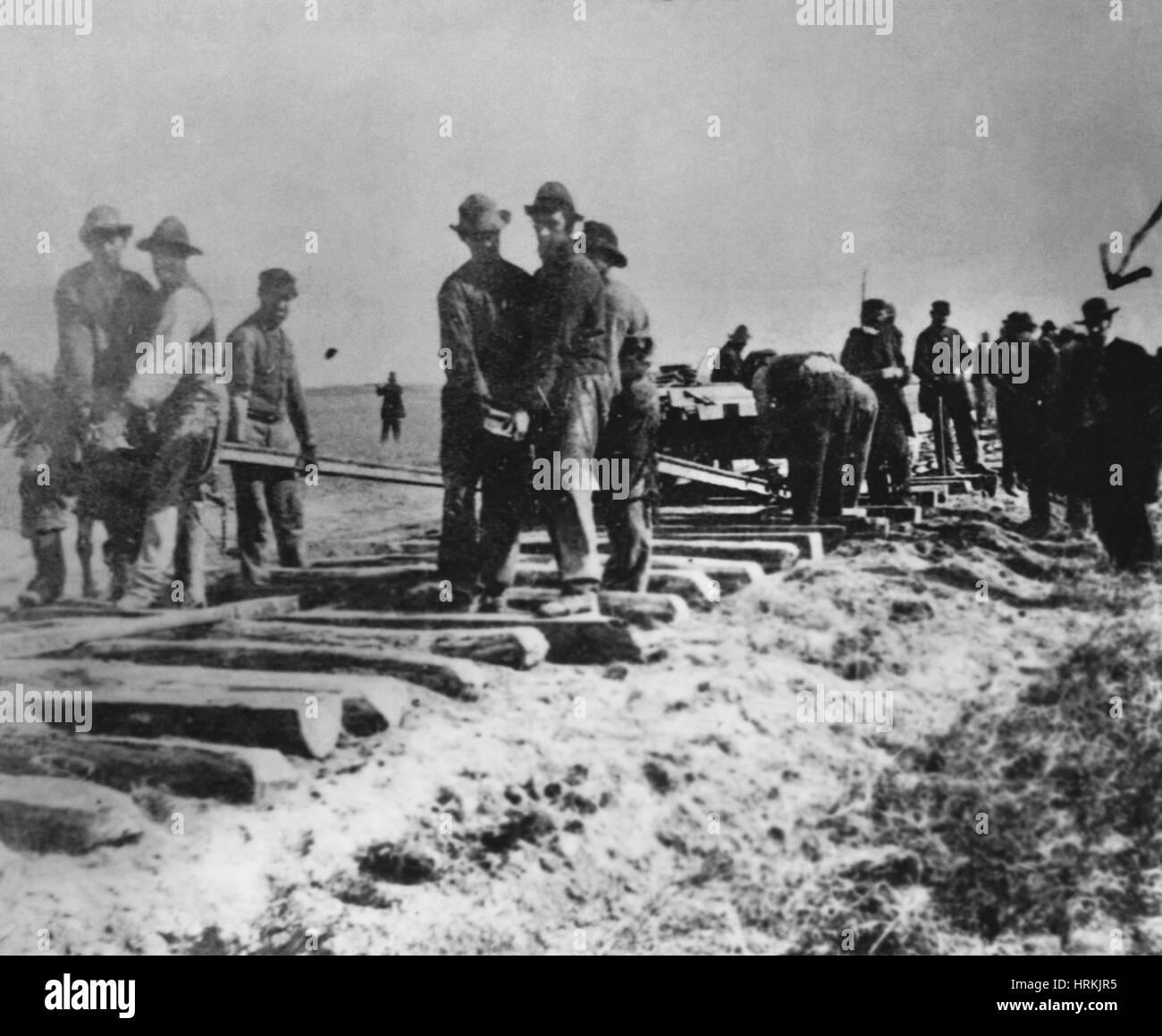Laying Tracks, 1868 - Stock Image