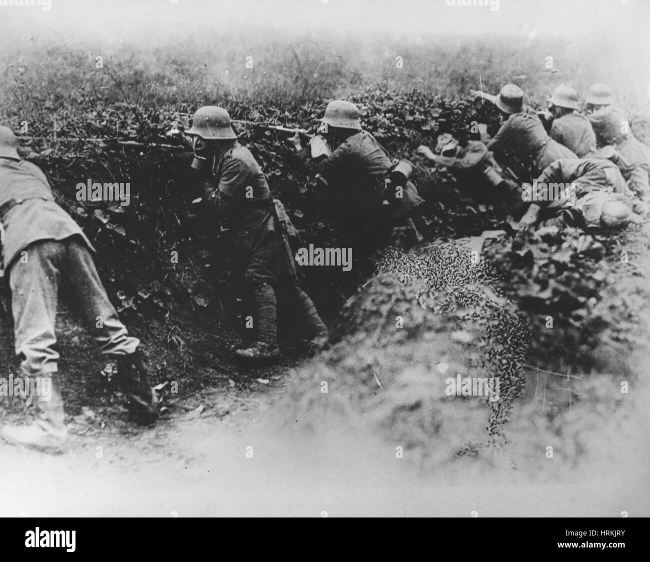 WWI, German Trench - Stock Image