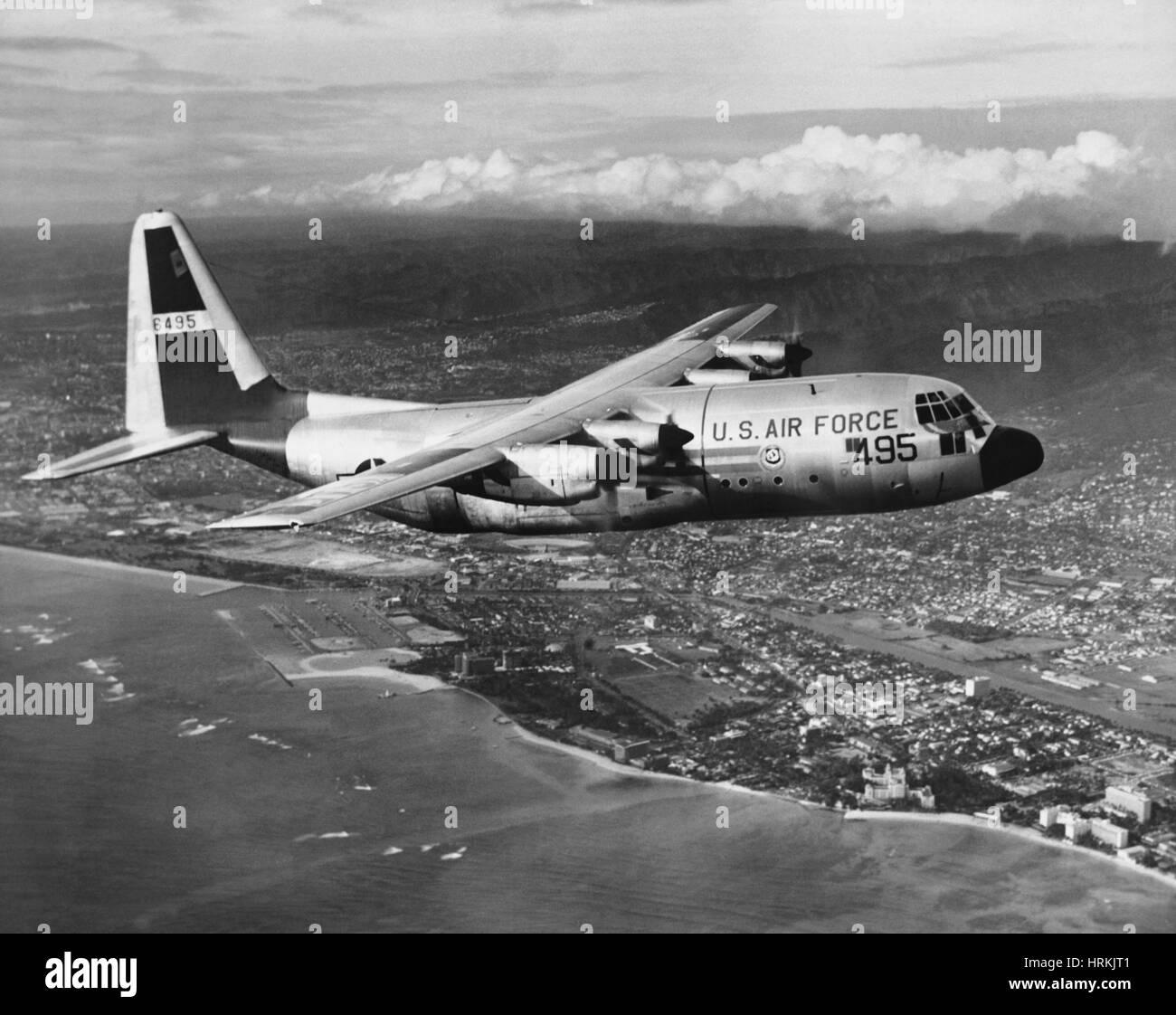Lockheed C-130 Hercules, 1950s - Stock Image