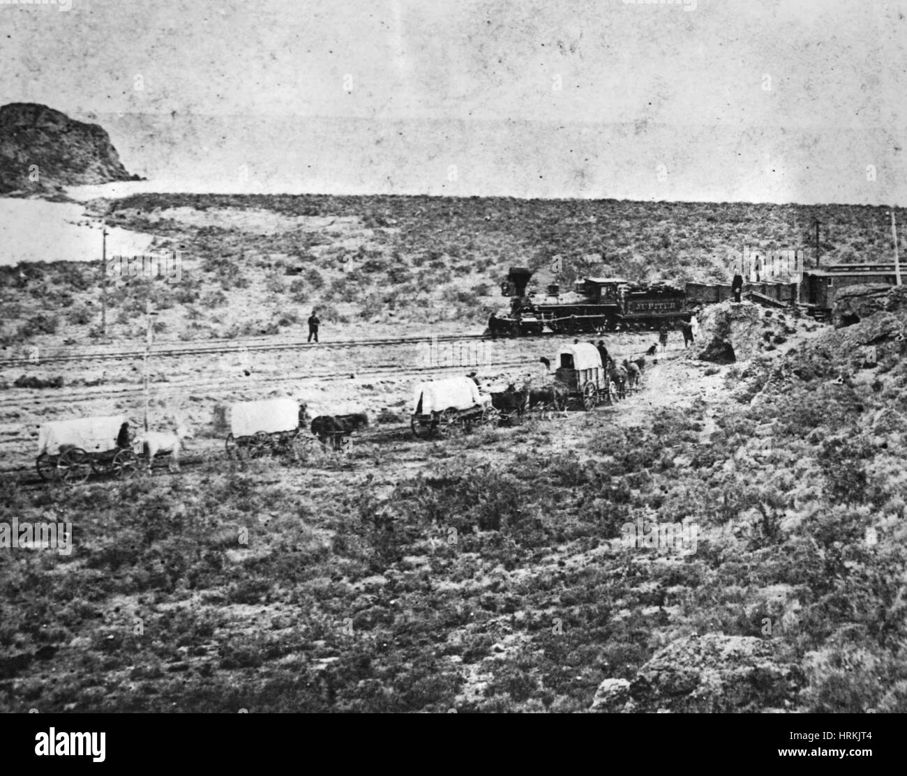 Stanford En Route to Golden Spike Ceremony, 1869 - Stock Image